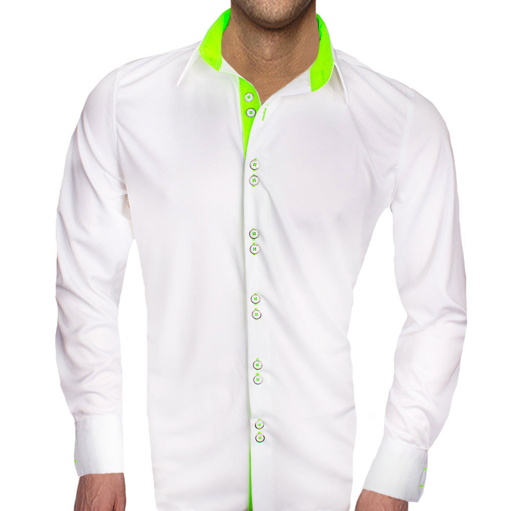 White-with-neon-green-shirts