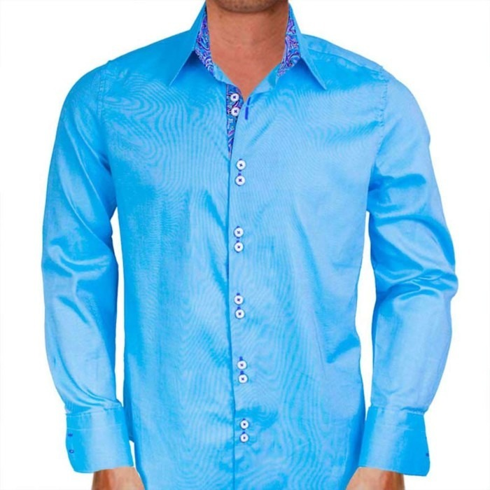 Mens-Bright-Blue-Shirts