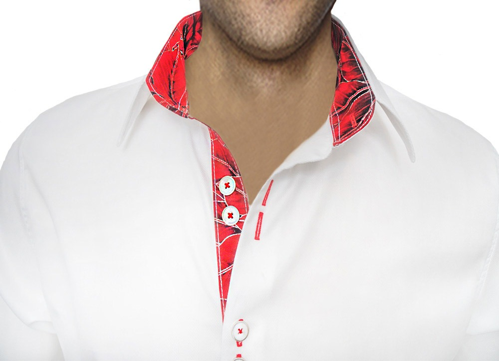 White-Christmas-Accent-Dress-Shirt