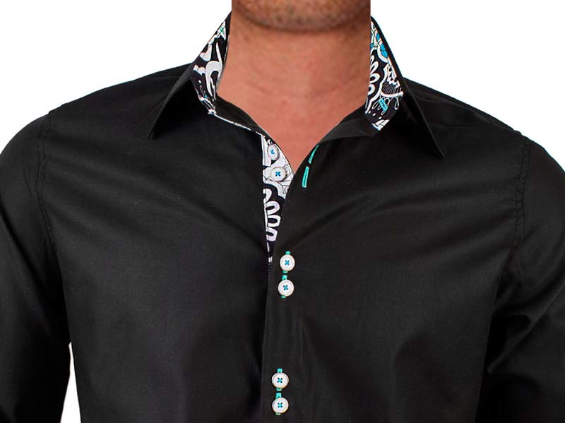 2f5ad3fffa9d Mens Black Designer Dress Shirts