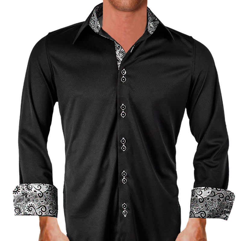 Black gray dress shirt for Dark grey shirt dress