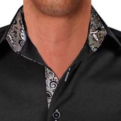 Black-with-Grey-Designer-Dress-Shirts