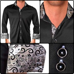 Black-with-Grey-Dress-Shirts
