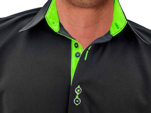 Black-with-Neon-Green-Designer-Dress-Shirts