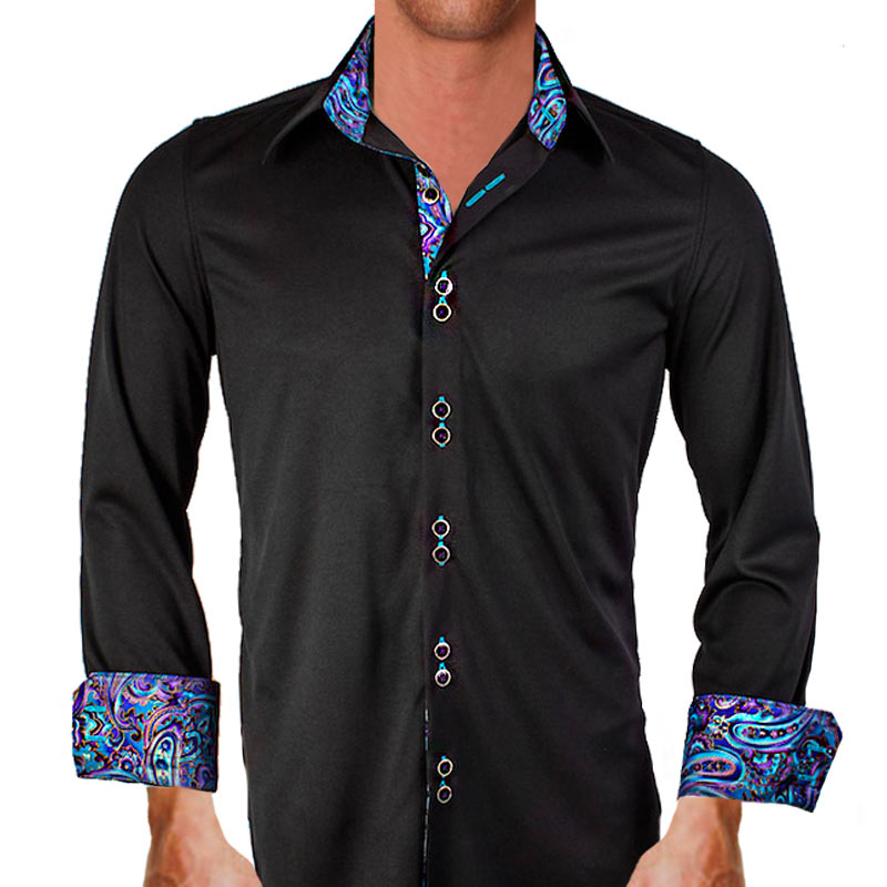 Black-with-Purple-Paisley-Dress-Shirts