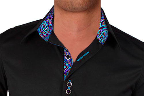 Black-with-Purple-and-Teal-Dress-Shirts