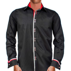 Black-with-Red-French-Cuffs-Dress-Shirts