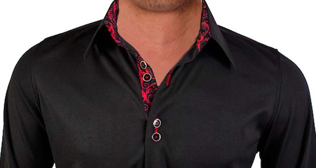Black-with-Red-Paisley-Designer-Dress-Shirts