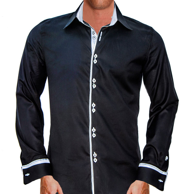Black with White Dress Shirts