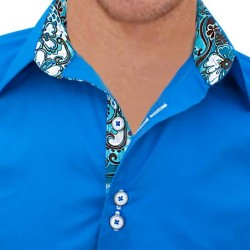 Blue-Designer-Dress-Shirts