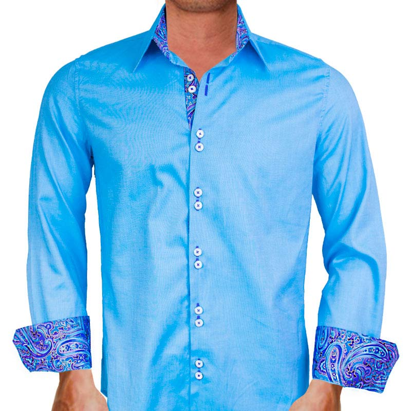 Mens Bright Paisley Shirt Male Models Picture