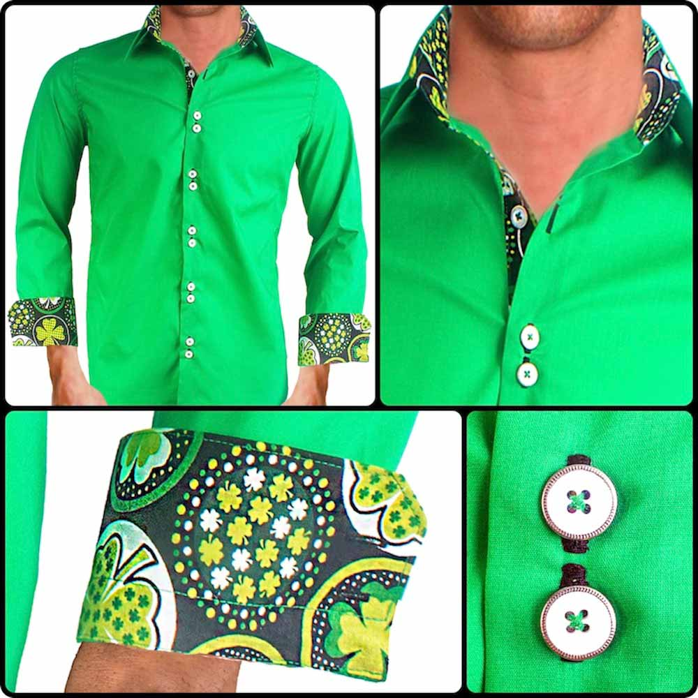 Mens St Patricks Day Dress Shirts