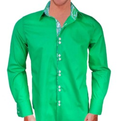 Bright-Green-and-white-dress-shirts