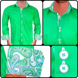 Bright-Green-with-White-Contrst-Dress-Shirts