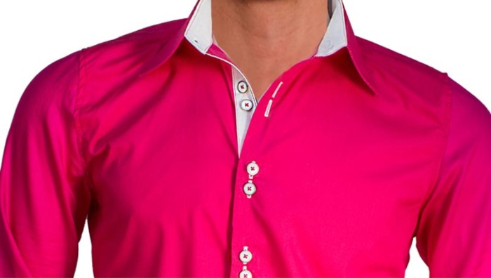 Bright-Pink-Mens-Dress-Shirts