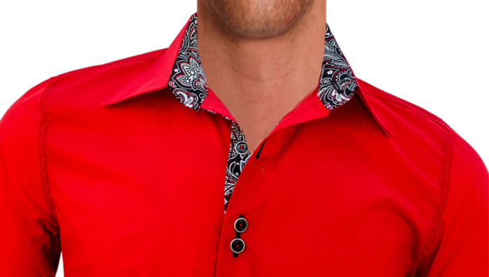 Bright-Red-Mens-Dress-Shirts