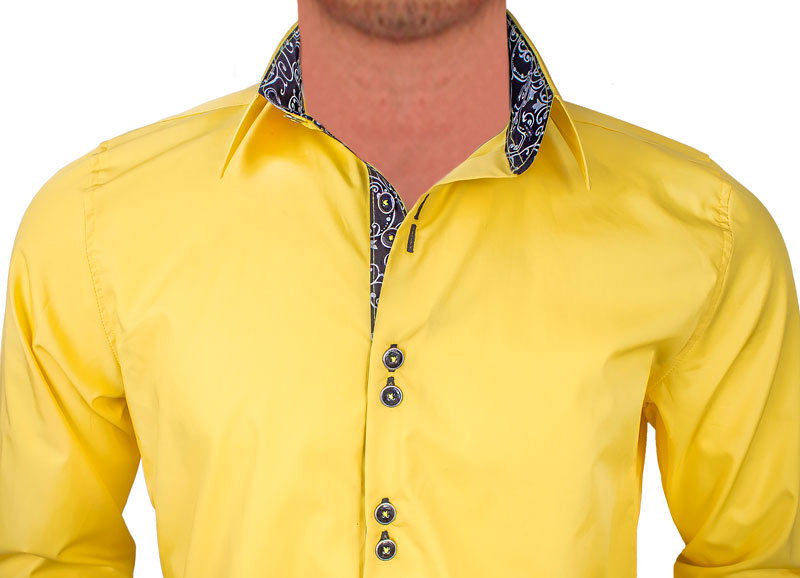 Bright-Yellow-with-Black-Accent-Dress-Shirts