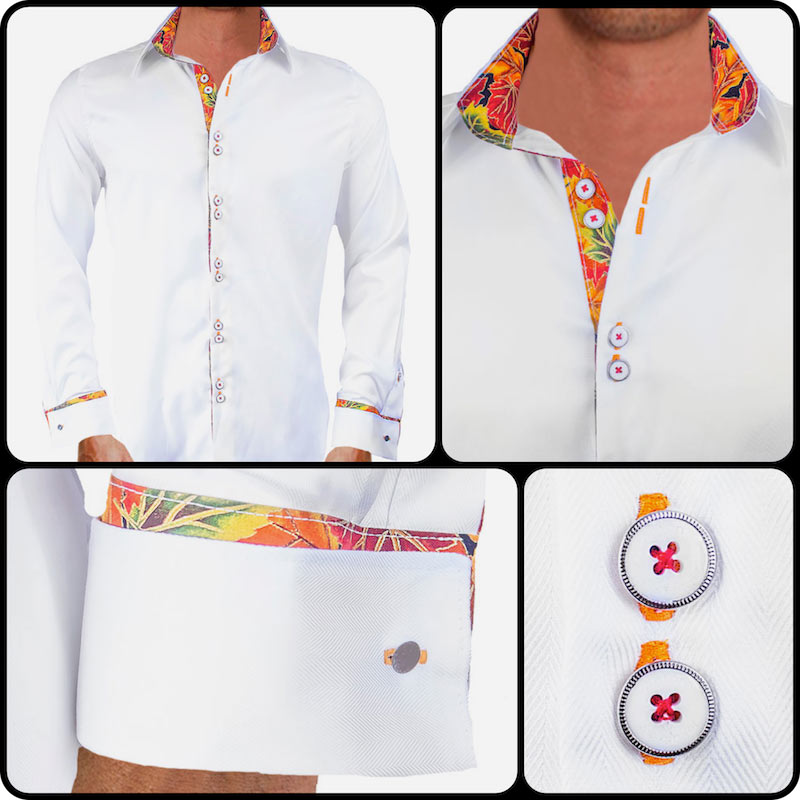 Dress-Shirts-with-leaves-on-cuffs