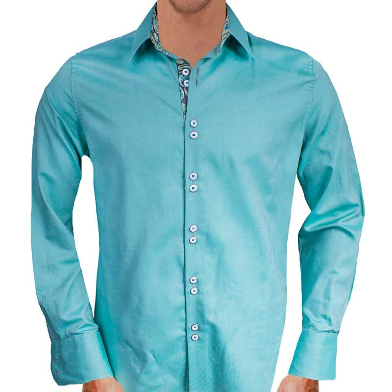 Green-with-Grey-Accent-Dress-Shirts