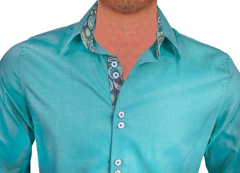 Green-with-Grey-Designer-Dress-Shirts