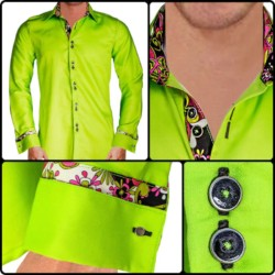 Light-Green-French-Cuff-Dress-Shirts