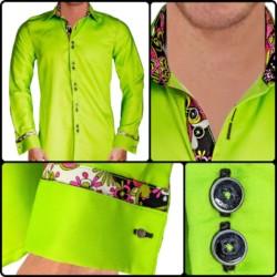 Light-Green-French-Cuff-Dress-Shirts
