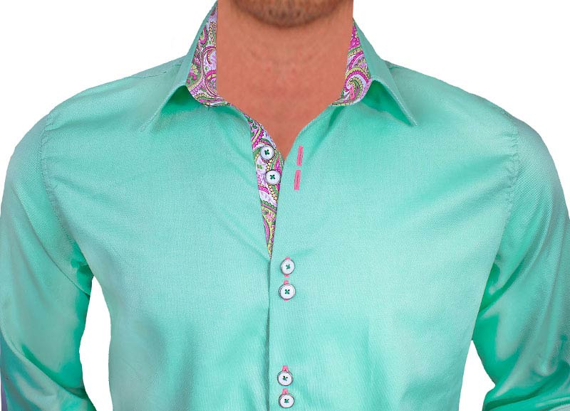 Light-Green-with-Pink-Dress-Shirts