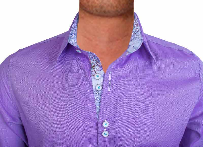 Purple with white dress shirts Light purple dress shirt men