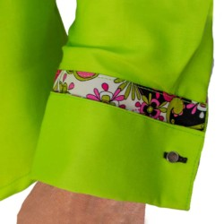Lime-Green-French-Cuff-Dress-Shirts