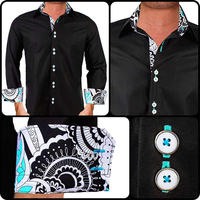 Mens-Black-Designer-Dress-Shirts