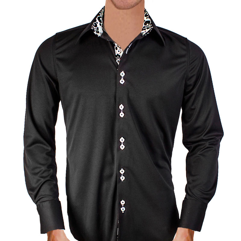 black white dress shirt