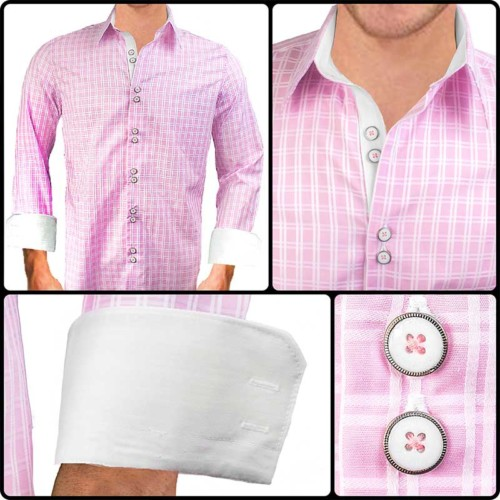 Pink-plaid-dress-shirts