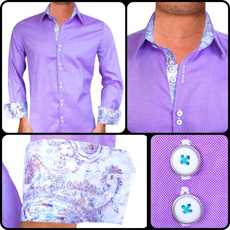 Purple-with-White-paisley-Dress-Shirts