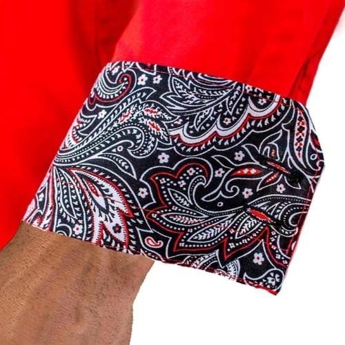 Red-and-Black-Paisley-Dress-Shirts