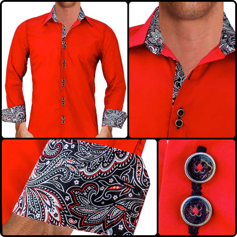 Red-with-Black-Paisley-Dress-Shirts