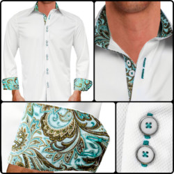 Teal-Paisley-Dress-Shirts