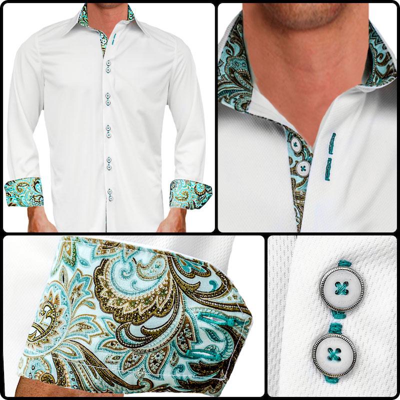 Teal-Paisley-Dress-Shirts