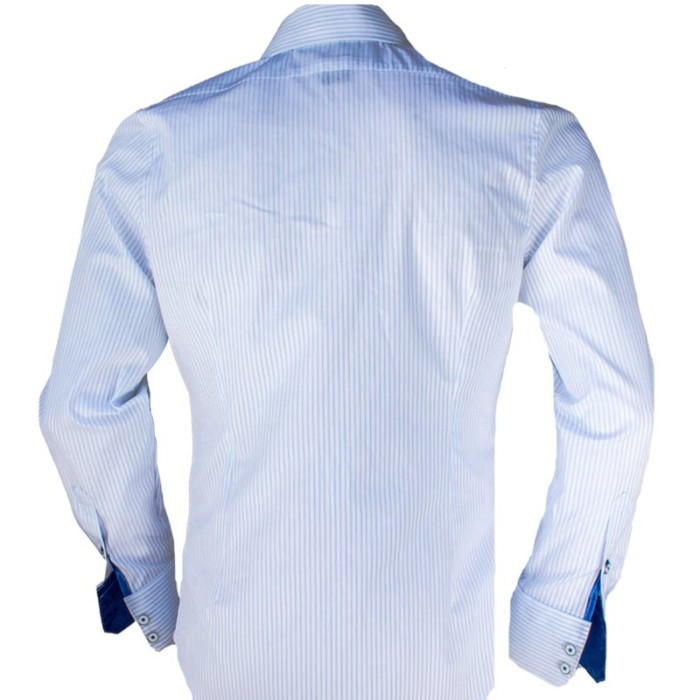 White-Shirts-with-Blue-Stripes-