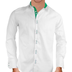 White-and-Green-Dress-Shirts