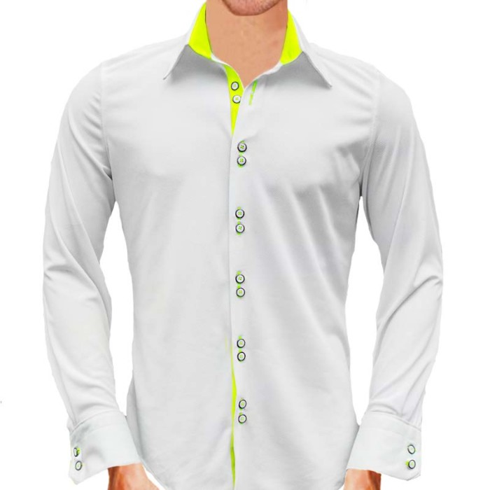 White-and-Neon-Yellow-Dress-Shirts