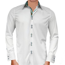 White-and-Teal-Paisley-Dress-Shirts