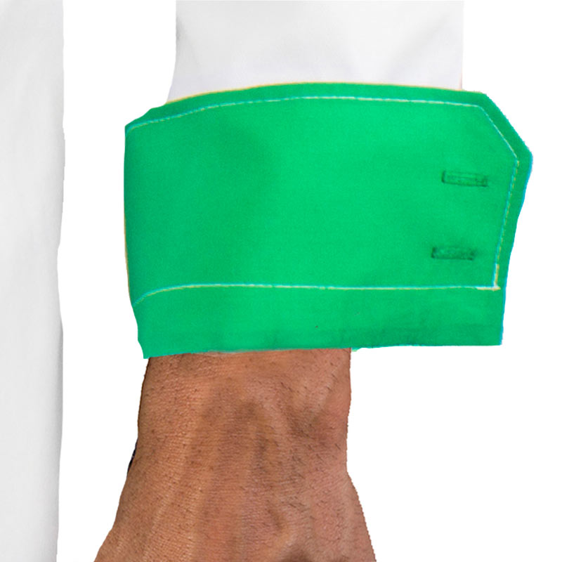 White-dress-shirt-with-green-cuffs