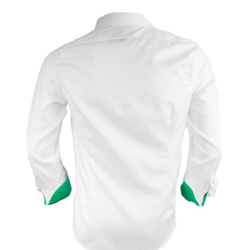 White-with-Green-Accents-Dress-Shirts