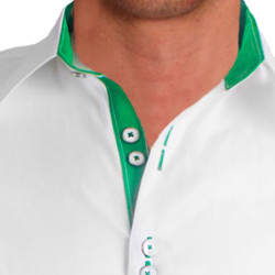 White-with-Green-Designer-Dress-Shirts