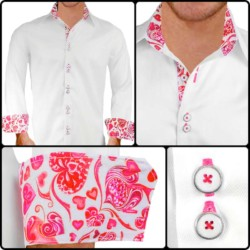 White-with-Pink-Cuffs-Dress-Shirts