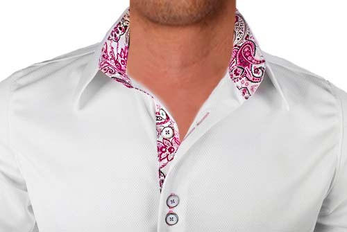 White-with-Pink-Paisley-Designer-Dress-Shirts