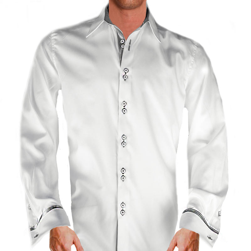 white and gray dress shirts