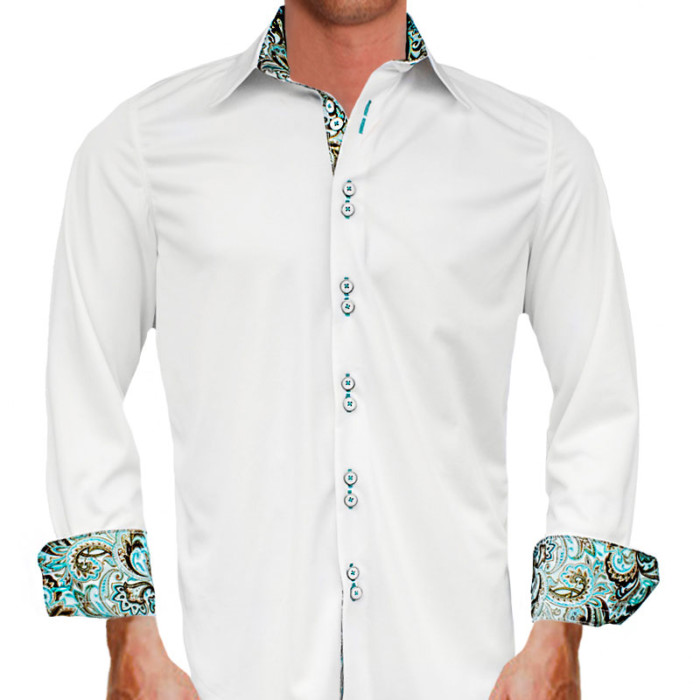 White-with-Teal-Dress-Shirts
