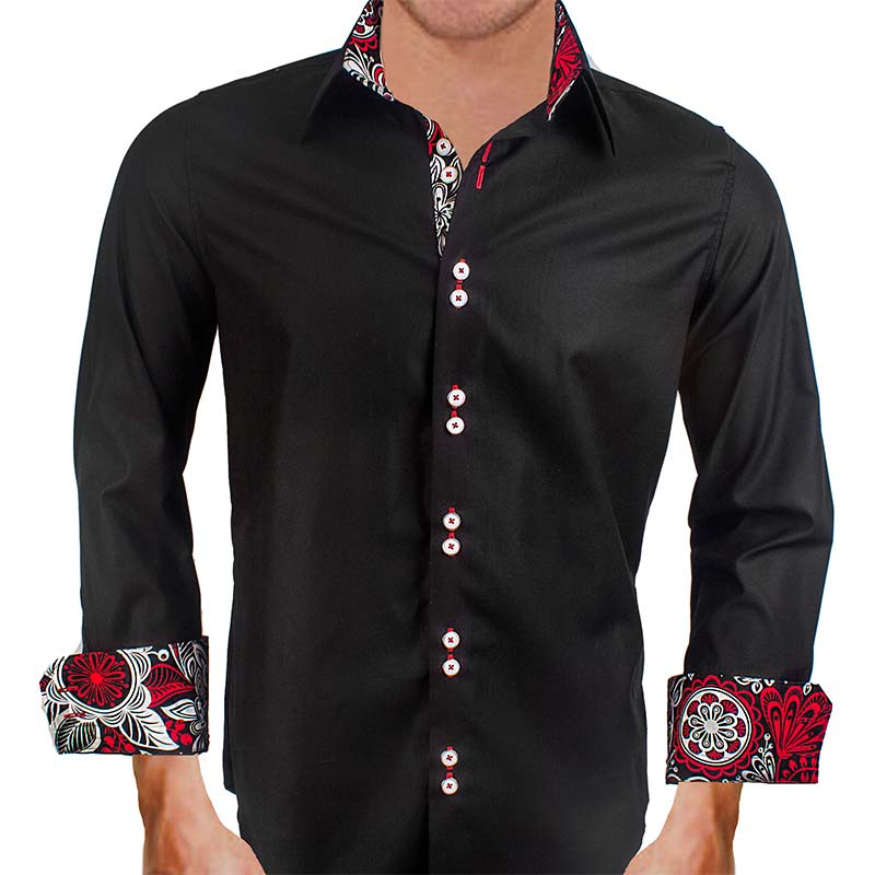 Black with Red Dress Shirts