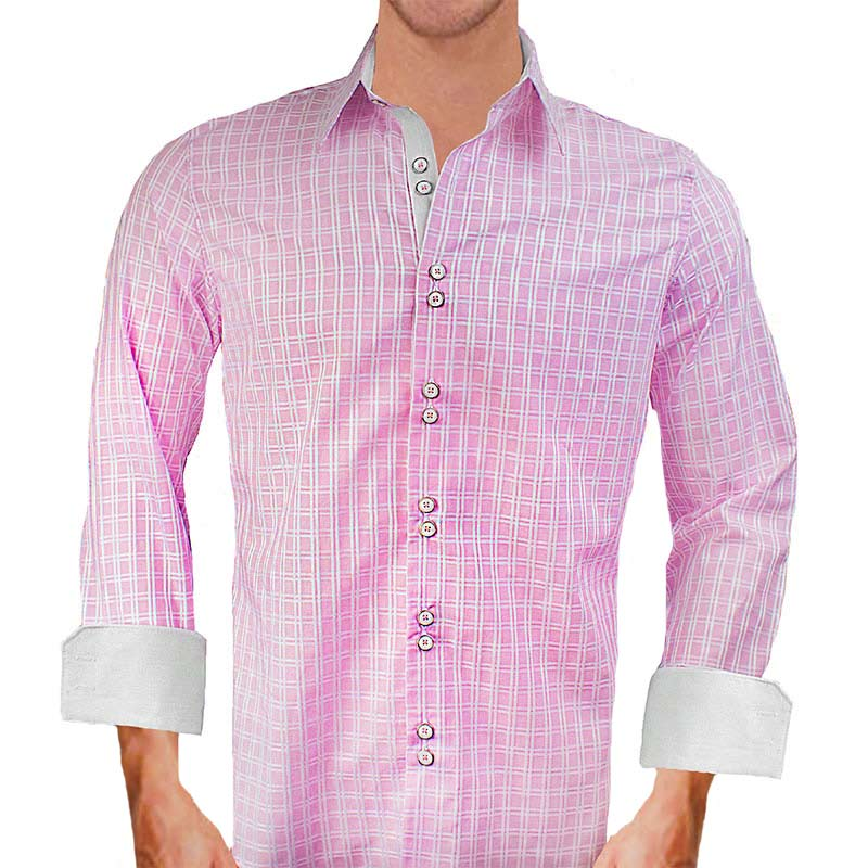 pink-and-white-dress-shirts
